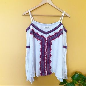 Sugarlip White Blue Red Off The Shoulder size s